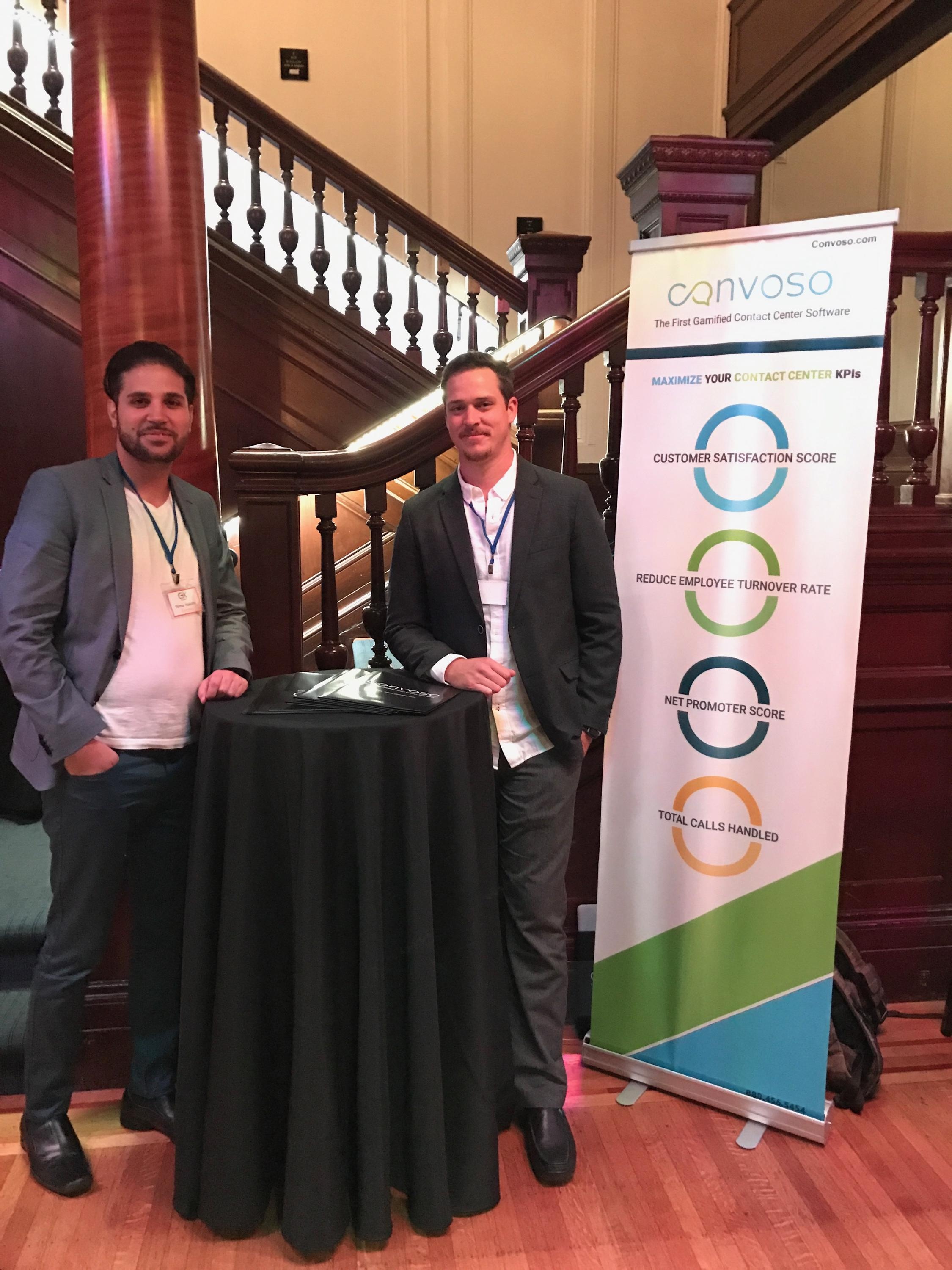 Convoso's CEO Nima Hakimi and Director of Customer Experience David Brown